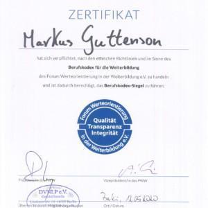 Zertifikat DVNLP Markus Guttenson